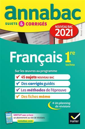 Français 1re techno : nouveau bac 2021