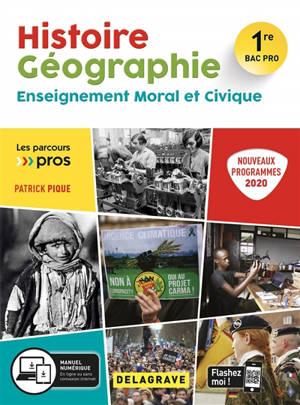 Histoire géographie, enseignement moral et civique 1re bac pro : nouveaux programmes 2020