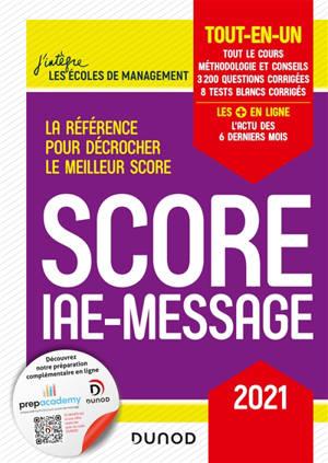 Score IAE-Message : tout-en-un : 2021