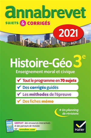 Histoire géo, enseignement moral et civique 3e : 2021