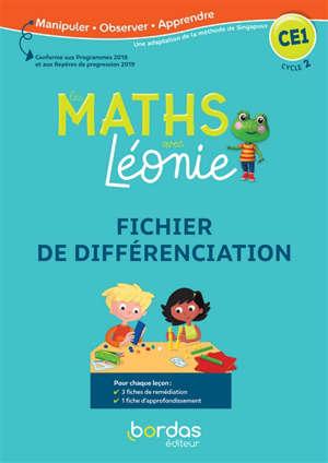 Les maths avec Léonie, CE1, cycle 2 : fichier de différenciation