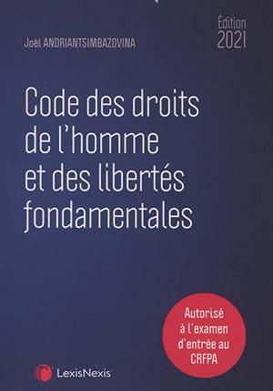 Code des droits de l'homme et des libertés fondamentales 2021