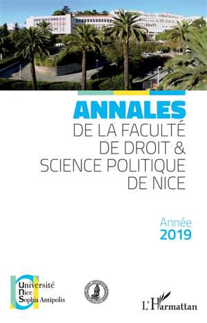 Annales de la Faculté de droit et science politique de Nice, Année 2019