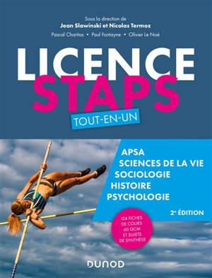Licence Staps : tout-en-un : Apsa, sciences de la vie, sociologie, histoire, psychologie