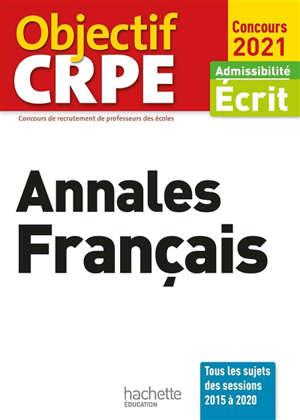 Annales français : admissibilité écrit, concours 2021