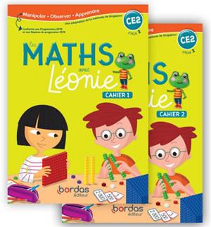 Les maths avec Léonie, CE2, cycle 2 : cahiers 1 et 2