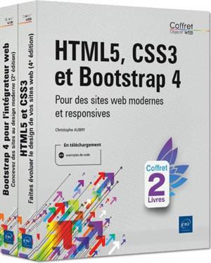 HTML5, CSS3 et Bootstrap 4 : pour des sites web modernes et responsives : coffret 2 livres