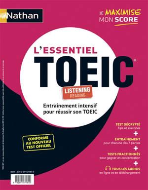 L'essentiel TOEIC : entraînement intensif pour réussir son TOEIC : 2020