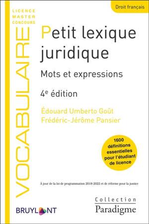 Petit lexique juridique : mots et expressions