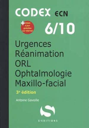 Anesthésie, urgences, réanimation, ophtalmologie, ORL, maxillo-facial
