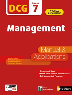 Management, DCG épreuve 7 : manuel & applications : 2020