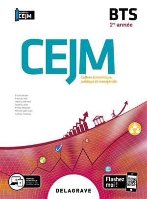 CEJM, culture économique, juridique et managériale 1re année BTS 2020