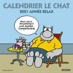 Calendrier Le Chat 2021 : année relax