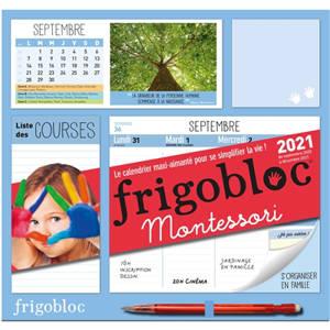Frigobloc Montessori 2021 : de septembre 2020 à décembre 2021 : le calendrier maxi-aimanté pour se simplifier la vie !