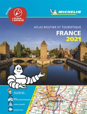 France 2021 : atlas routier et touristique : plastifié