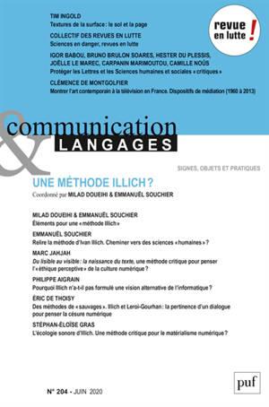 Communication & langages. n° 204, Une méthode Illich ?