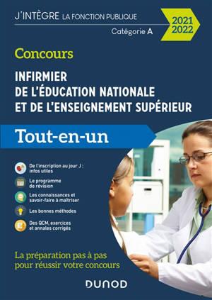 Concours infirmier de l'Education nationale et de l'enseignement supérieur : catégorie A, tout-en-un, 2021-2022