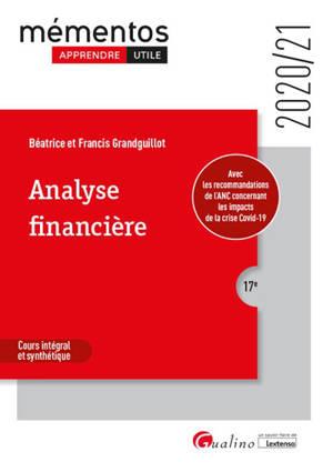 Analyse financière : cours intégral et synthétique : 2020-2021