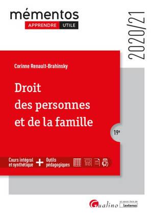 Droit des personnes et de la famille : 2020-2021