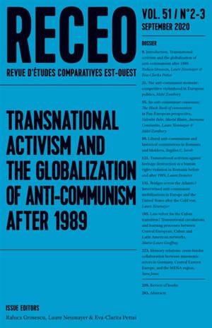 Revue d'études comparatives Est-Ouest. n° 2-3 (2020), Transnational activism and the globalization of anti-communism after 1989