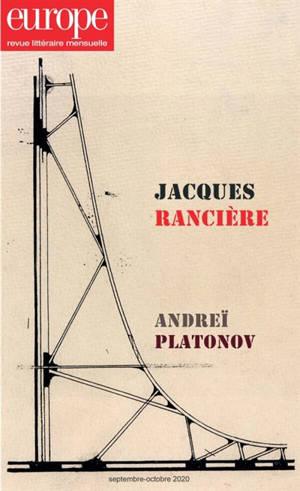 Europe. n° 1097-1098, Jacques Rancière. Andreï Platonov