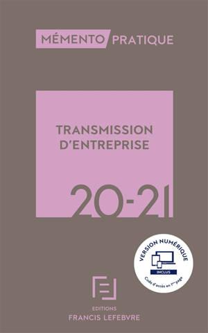 Transmission d'entreprise 2020-2021