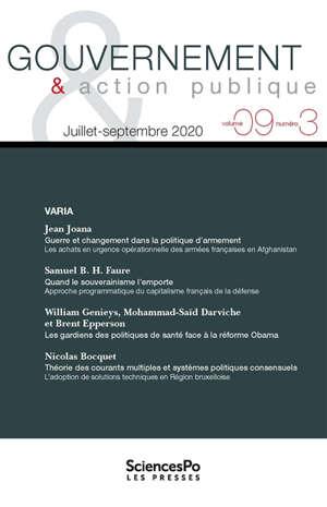 Gouvernement & action publique. n° 9-3