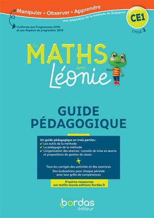 Les maths avec Léonie CE1, cycle 2 : guide pédagogique