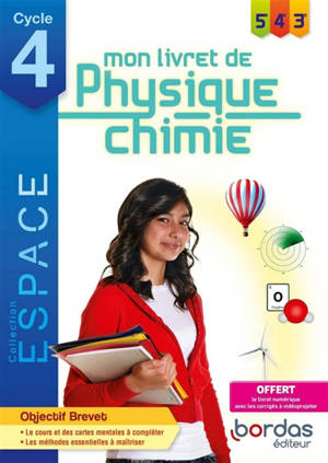 Mon livret de physique chimie 5e, 4e, 3e, cycle 4
