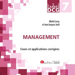 Management : cours et applications corrigées : DCG 7, 2019-2020