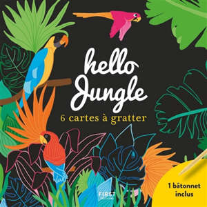 Hello jungle : 6 cartes à gratter
