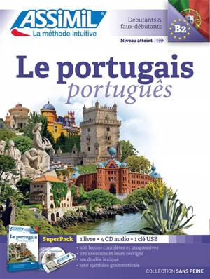 Le portugais : débutants & faux-débutants, niveau atteint B2 : super pack