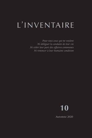 Inventaire (L'). n° 10