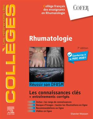 Rhumatologie : réussir son DFASM : les connaissances clés + entraînements corrigés
