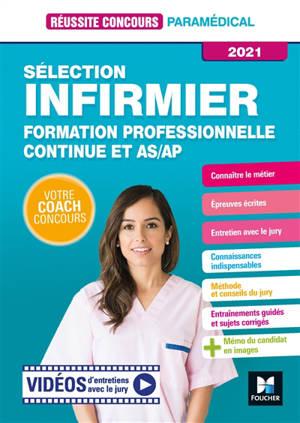 Sélection infirmier : formation professionnelle continue et AS-AP : 2021