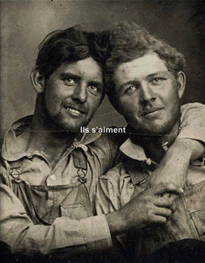 Ils s'aiment : un siècle de photographies d'hommes amoureux 1850-1950