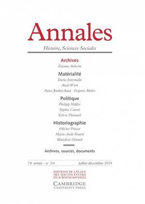 Annales. n° 3-4 (2019), Archives