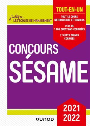 Concours Sésame : tout-en-un : 2021-2022
