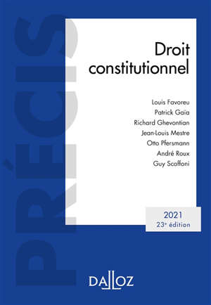 Droit constitutionnel : 2021