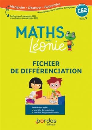 Les maths avec Léonie, CE2, cycle 2 : fichier de différenciation