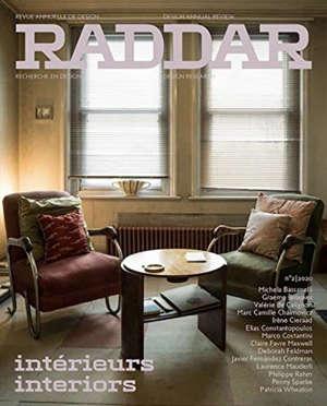 Raddar : revue annuelle de design = design annual review. n° 2, Intérieurs = interiors
