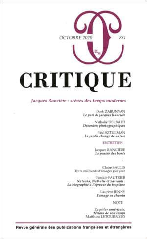 Critique. n° 881, Jacques Rancière : scènes des temps modernes