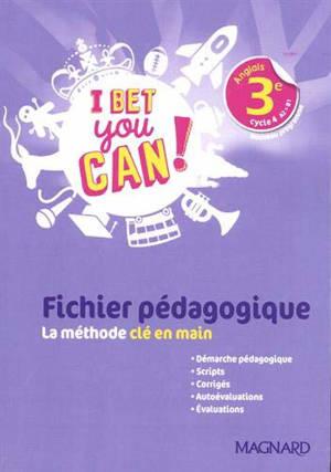 I bet you can ! anglais 3e, cycle 4 A2-B1 : nouveau programme
