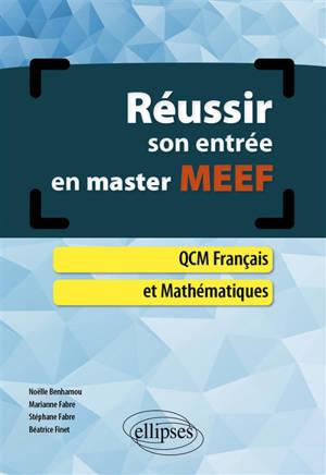 Réussir son entrée en master MEEF : QCM français et mathématiques
