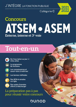 Concours ATSEM-ASEM, externe, interne et 3e voie : tout-en-un : catégorie C, 2021-2022