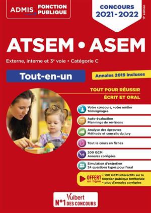 ATSEM, ASEM : externe, interne et 3e voie, catégorie C : tout-en-un, concours 2021-2022