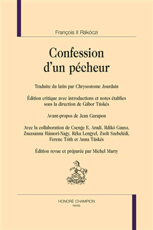 Confession d'un pécheur