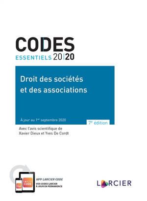 Droit des sociétés et des associations 2020