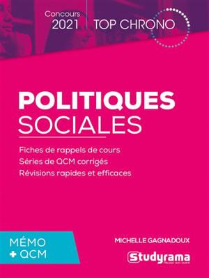 Politiques sociales, mémo + QCM : concours 2021