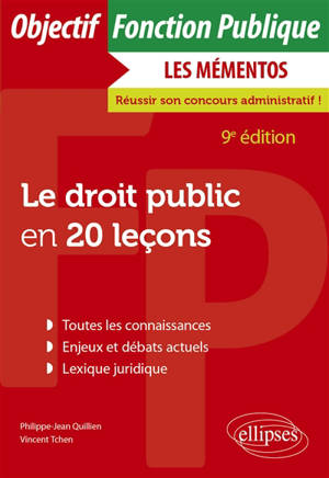 Le droit public en 20 leçons